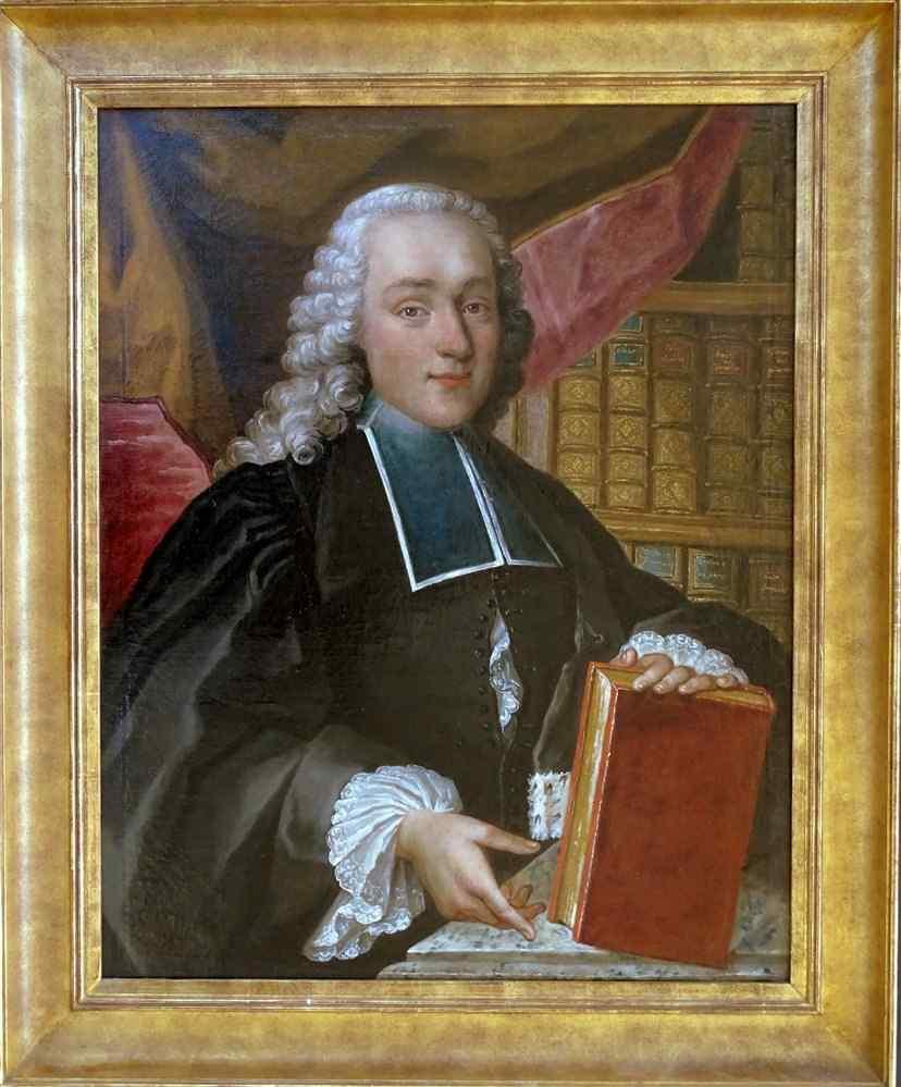 portrait d un jeune avocat au 18eme siecle ecole francaise