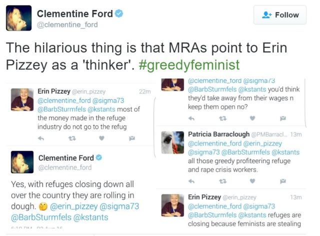 Clementine Ford attacks founder of women's shelter