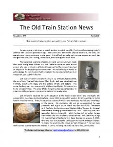 2015 04 Newsletter