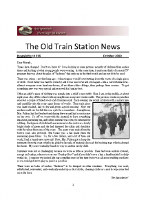 The Old Train Station News -116- October