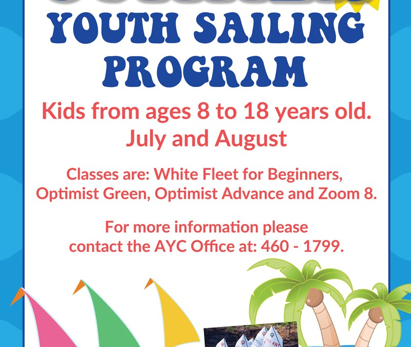 Summer Youth Sailing Program – Register Now!