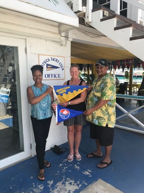 Burgee Exchange with Muncie Sailing Club in USA