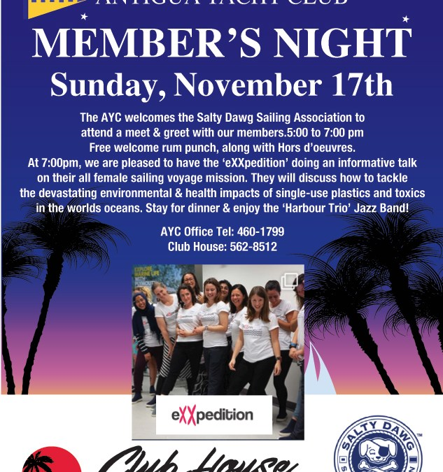 Member's Night  – Sunday, November 17th