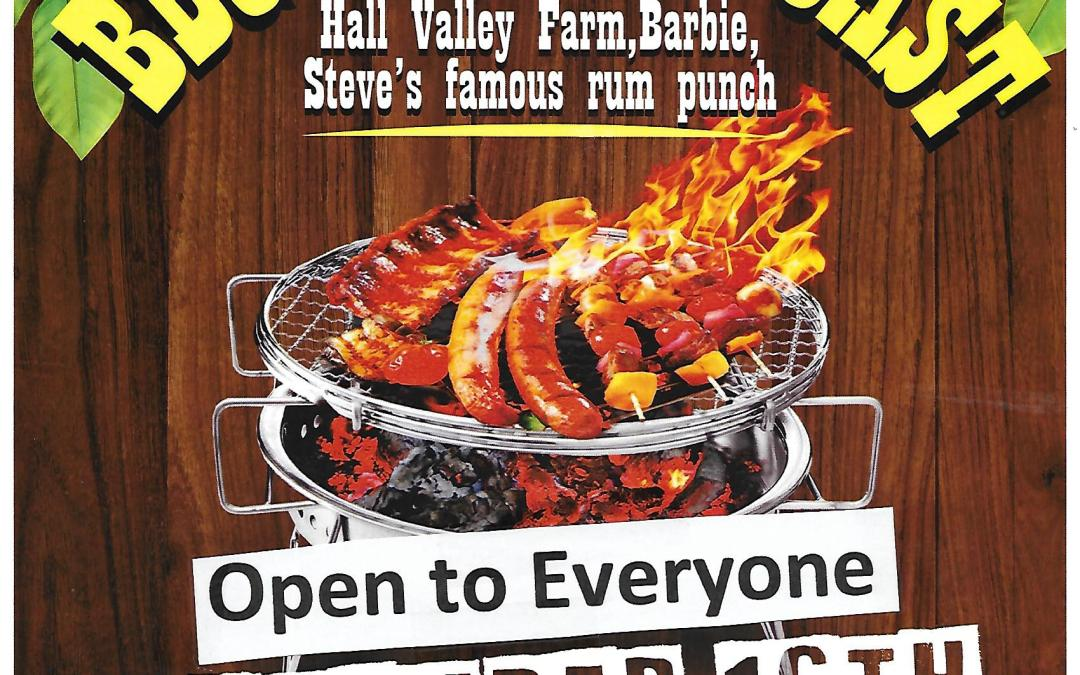 Repost: Start Of Season BBQ & Pig Roast – Open to Everyone!
