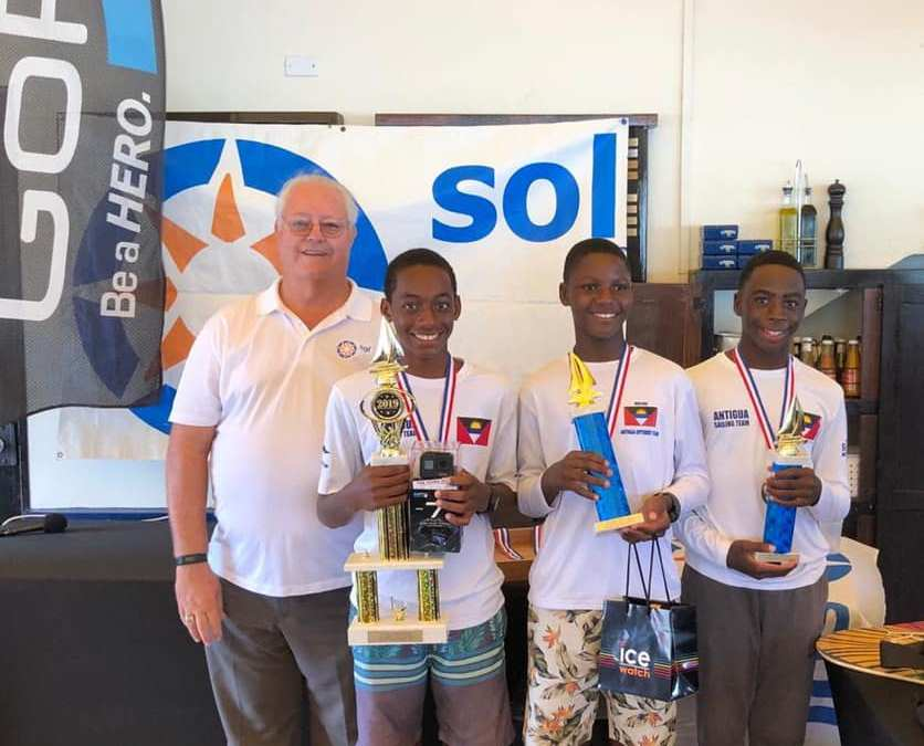 Race Results for Team Antigua from the Sol Optimist Championships!