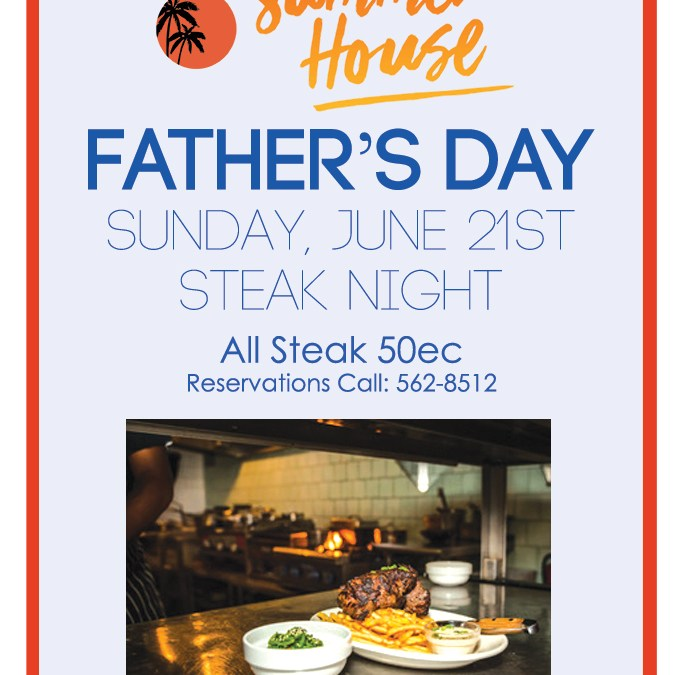 Club House Father's Day Steak Night