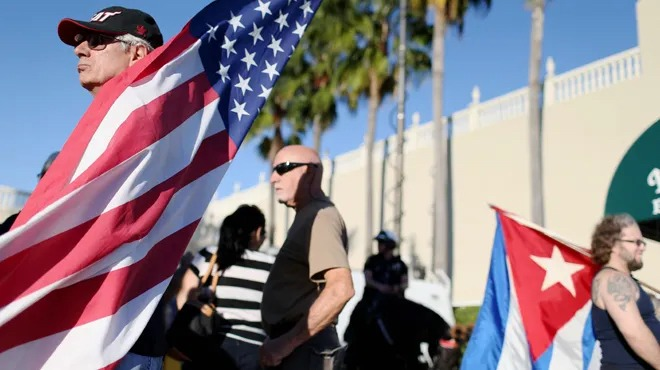 Manifestaciones cubanas, reacciones estadounidenses