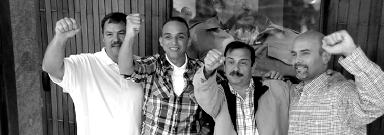Living members of the Cuban Five, reunited in Havana.Photo credit: Estudios Revolución. Living members of the Cuban Five, reunited in Havana.Photo credit: Estudios Revolución.