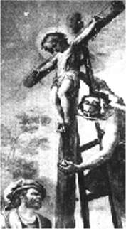 Ritual murder of a baby by crucifixion
