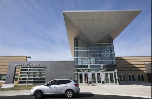 Antinozzi Associates designed entrance to Platt High School in Meriden