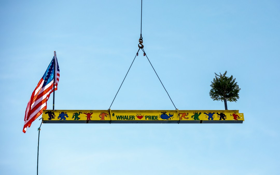 Celebrating the Final Structural Beam at New London High School