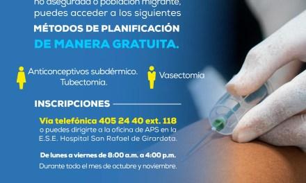 El Hospital de Girardota convoca a la población al método de planificación gratuita