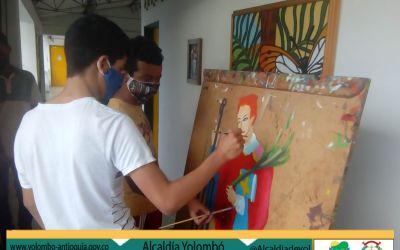 Yolombó plasma las artes visuales en sus jóvenes