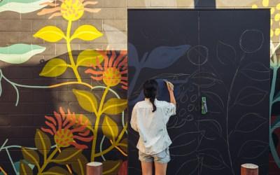 Mural en homenaje a victimas del conflicto armado