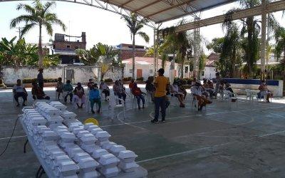 En Puerto Triunfo se realizó almuerzos navideños para los adultos mayores