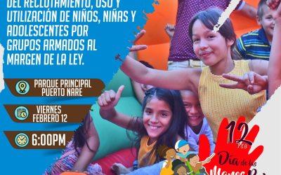 Puerto Nare realizará una conmemoración del día internacional de las Manos rojas