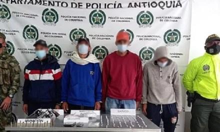 Arrestos en el suroeste antioqueño