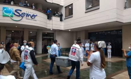 La Clínica Somer recibe de Rionegro, recibe 252 vacunas contra el COVID-19