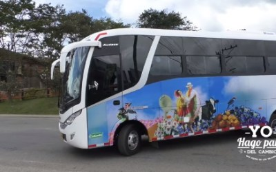 Primer bus municipal en San Pedro de Los Milagros, Antioquia