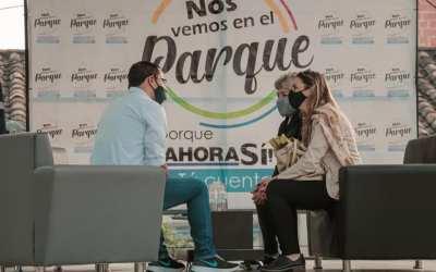 El alcalde de Girardota conversa con la gente