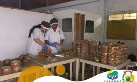 Entrega de suplementos alimentarios en Yolombó