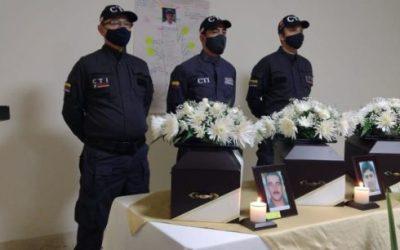 Fueron entregados a sus familiares los cuerpos de tres víctimas del conflicto armado en el Oriente
