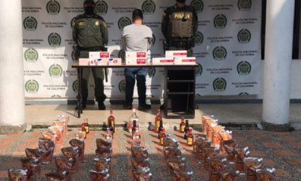 En Marinilla se realizó un operativo de control que dejó 60 unidades de licor incautadas