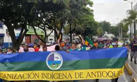La Minga hace presencia en Medellín