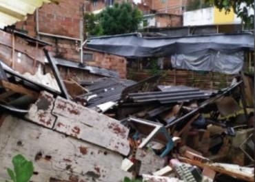 Se presentó varias inundaciones en Marinilla tras las fuertes lluvias