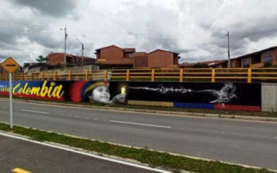 En Rionegro jóvenes pintaron un mural en honor al Paro Nacional