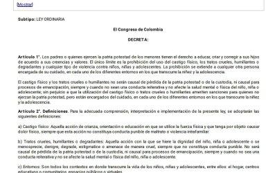 Así celebró Julián Peinado la ley de la prohibición del castigo físico a los menores de edad