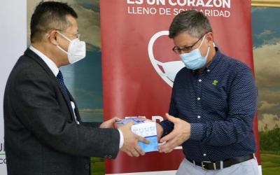 Alrededor de 20 mil tapabocas fueron donados al departamento por Zijin Continental Gold