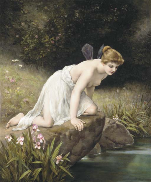 Frederick Paul Thumann (1834-1908). Psyche at Nature's Mirror [http://www.antiqforum.com]