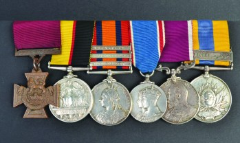 Medals awarded to Private Thomas Byrne.