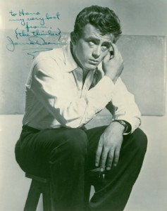 A photograph signed by James Dean