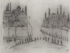 Laurence Stephen Lowry, No 17, pencil on paper, 1960, from Rowles Fine Art.