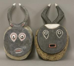 Masks belonging to abstract artist Alan Davie