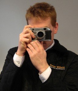Auctioneer Chris Large tries out the Witness camera
