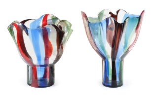 Two authentic 'Kukinto' vases by Timo Sarpaneva, 1991.