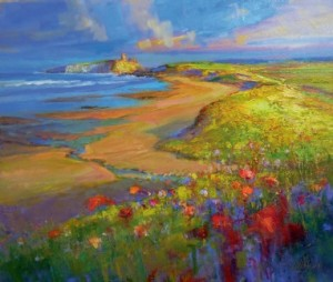 Walter Holmes Embleton Bay with Dunstanburgh Castle