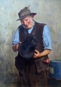 Charles Spencelay Antiques oil on board