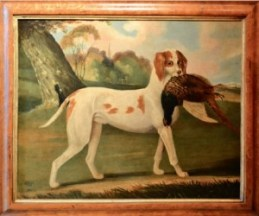A folk art animal portrait