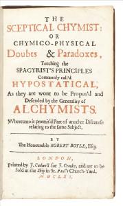 The Sceptical Chymist by Robert Boyle