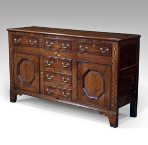 Early 19th century oak dresser