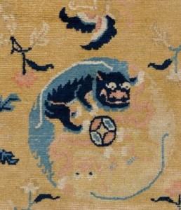 Ninghsia rug, Western China, c1800