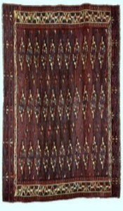 Yomut (Turkoman) tribal rug, early C19th, Turkmenistan