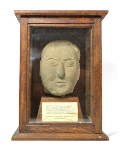 Carved stone head