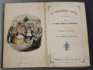 First edition copy of 'A Christmas Carol' by Charles Dickens, est £3,000 - £5,000