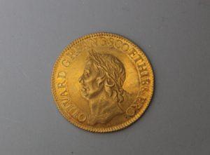 CROMWELL_1656 GOLD BROAD OF TWENTY SHILLINGS_HEADS