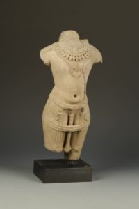 An Indian sandstone male torso